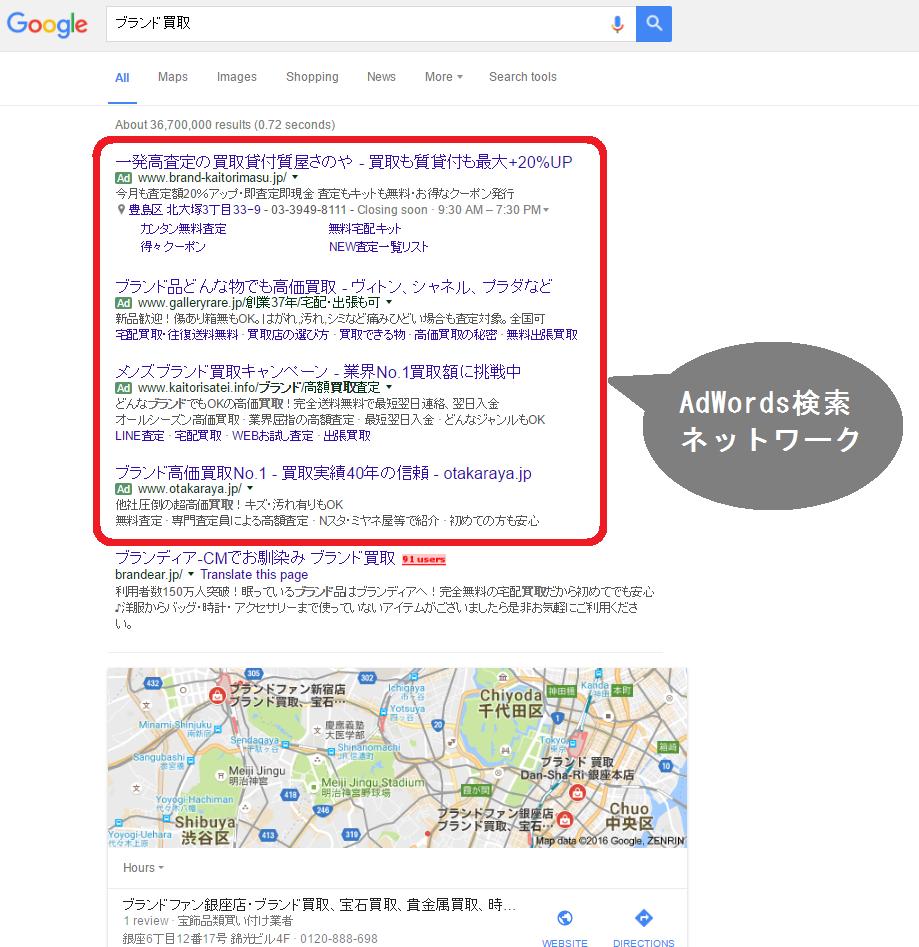 AdWords検索ネットワーク