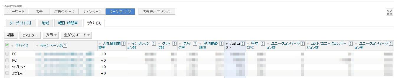 Yahoo 「デバイス」2