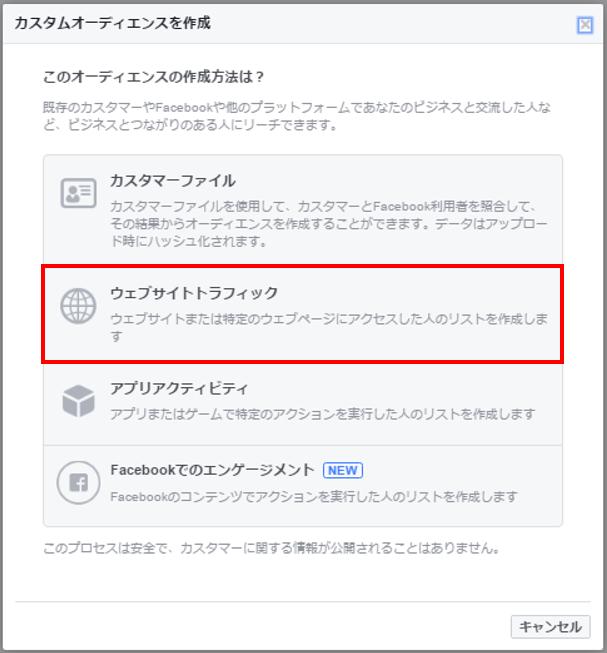 リマケ カスタムオーディエンス2