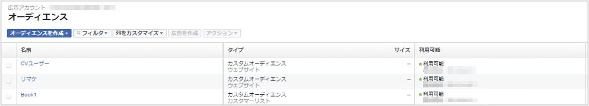 CVユーザーのカスタムオーディエンスの完成