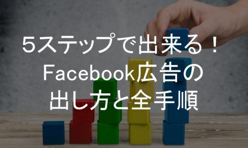 Facebook広告,出し方