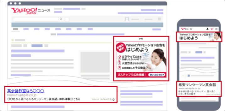 広告の掲載イメージ
