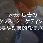 Twitter広告,インタレストターゲティング