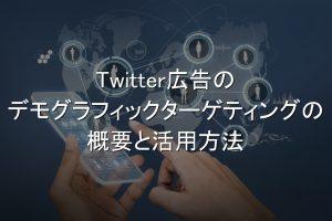 Twitter広告,デモグラフィックターゲティング