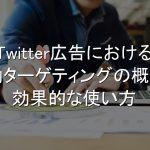 Twitter広告,行動ターゲティング