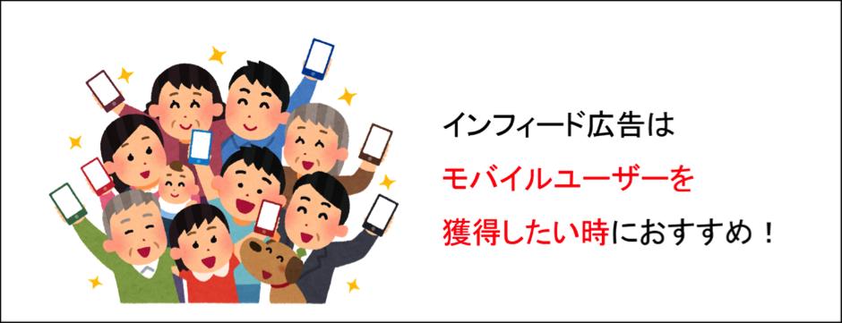 インフィード広告は、モバイルユーザーを獲得したい時におすすめ