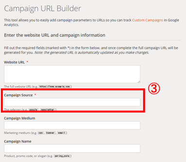「Campaign Source」