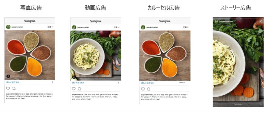 Instagram広告4タイプ